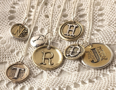 A - Z initial charms > sterling silver (925), brass and bronze RRP $24.20. These charms make a lovely personalised necklace or bracelet for your bridesmaids, each letter is a set designs incorporating sterling silver, bronze and brass.