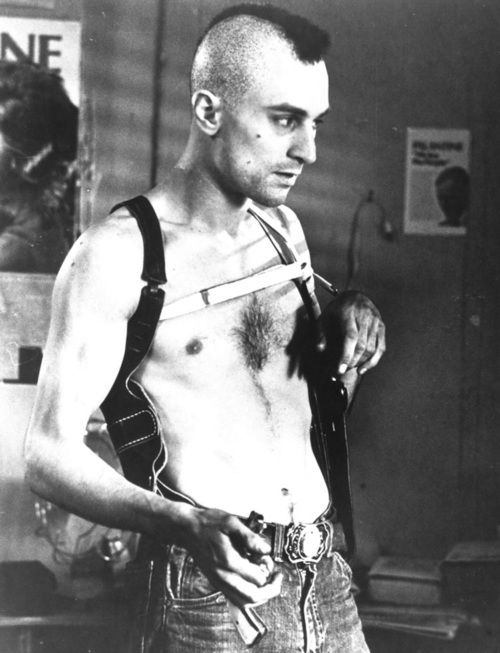 Robert de Niro as Travis Bickle in Taxi Driver, 1976, directed by Martin Scorsese.