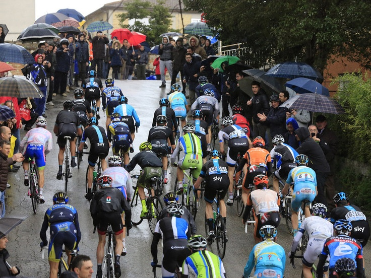 Steep ramps were a feature of Tirreno - Adriatico 2013 Stage 6
