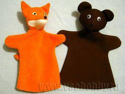куклы на руку для кукольного театра Лиса и Медведь