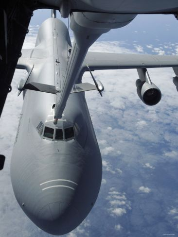 KC-10 Extender Refuels a C-5 Galaxy