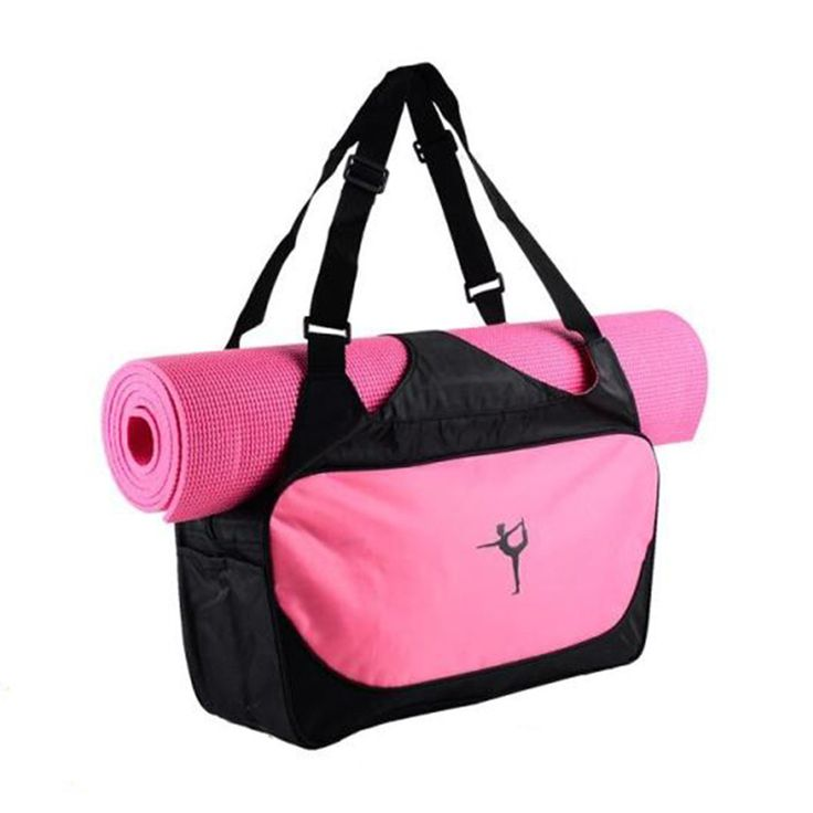 Yoga Mat Bag Waterproof Backpack Shoulder Messenger Sport Bag For Women Fitness Duffel Clothes Gym Bag (No Yoga Mat)