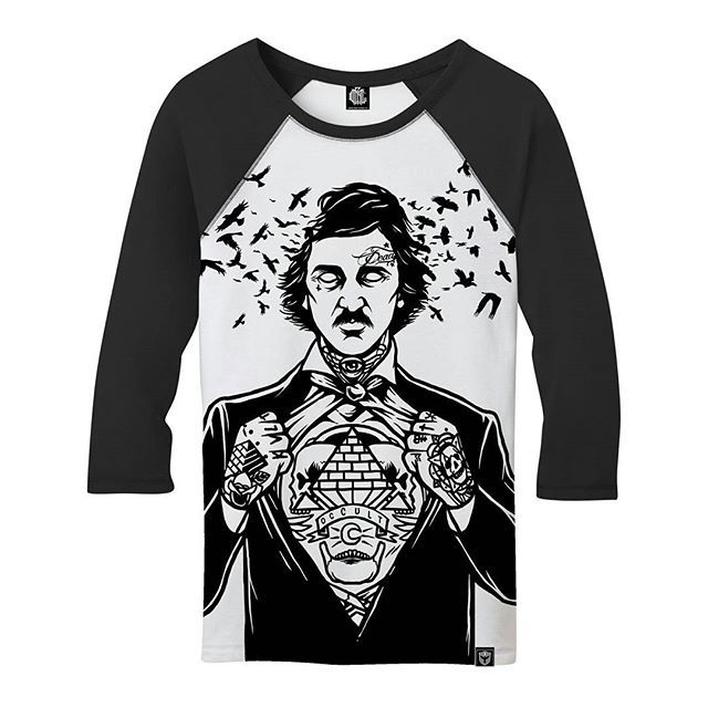 "CRMC X @julianakbar ""Poe"" 3/4 Sleeved Raglan TeePart of our Winter 2016 Collection - coming soon at www.crmc-clothing.co.uk #alt #altwear #altfashion #altstyle #alternative #alternativefashion #alternativestyle #winter2016 #fashionstatement #winter #need #winter #winteriscoming #winterwear #nevermore #poet #poetry #tattooed #tattoos #tattoo #styles #style #alternativeguy #alternativeboy #alternativegirl #alternativeteen #poe #ravens #edgarallanpoe"