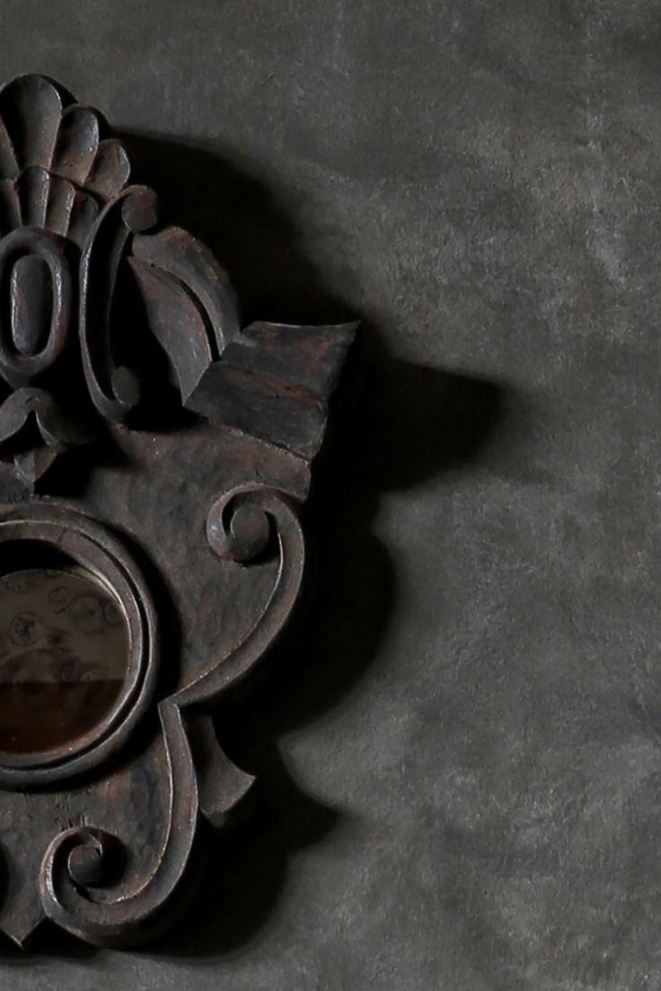 Spiegel oud hout hoffz | www.twoonhuis.nl