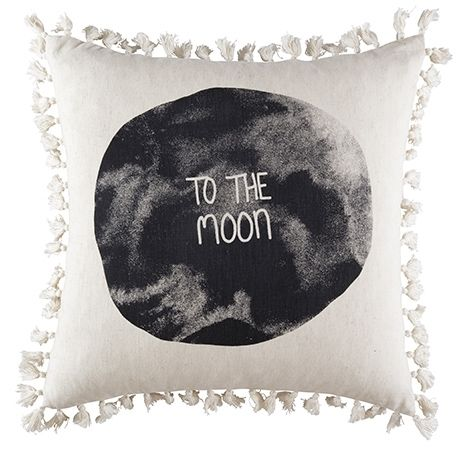 To The Moon Cushion 50x50cm For Real Living Natural #reallivingxfreedom