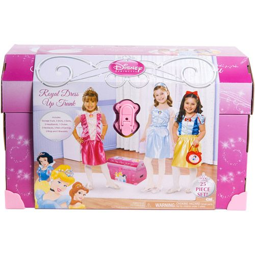 Princess Toys Box Storage Kids Girls Chest Bedroom Clothes: Disney Princess Royal Dress Up