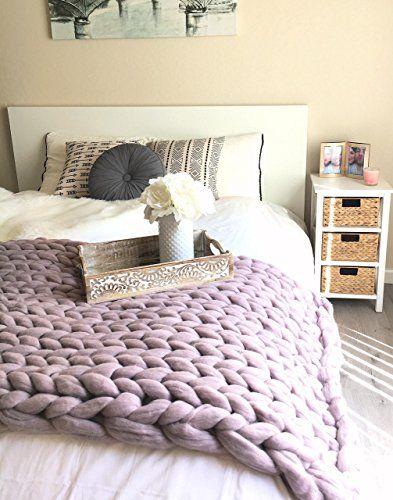 100% Merino wool chunky knit blanket Super Giant hand Kni... https://www.amazon.com/dp/B01MZEH9R9/ref=cm_sw_r_pi_dp_x_pYYlAb2A6TFRR