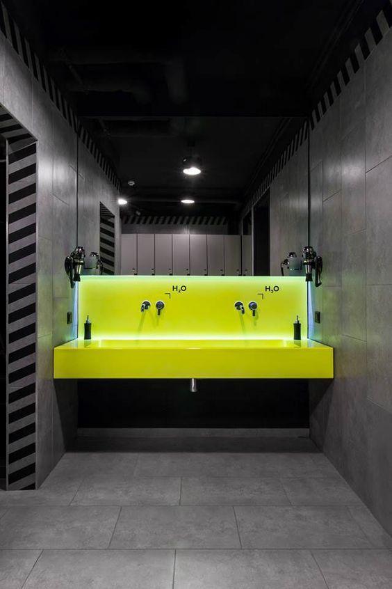 Neon lighting in the bathroom   City Lighting Products   www.facebook.com/CityLightingProducts