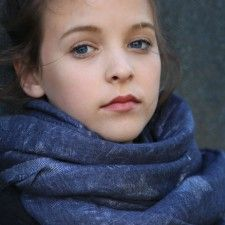 Style Snob extra long and wide Swedish scarf with silver star detailing on indigo blue fabric