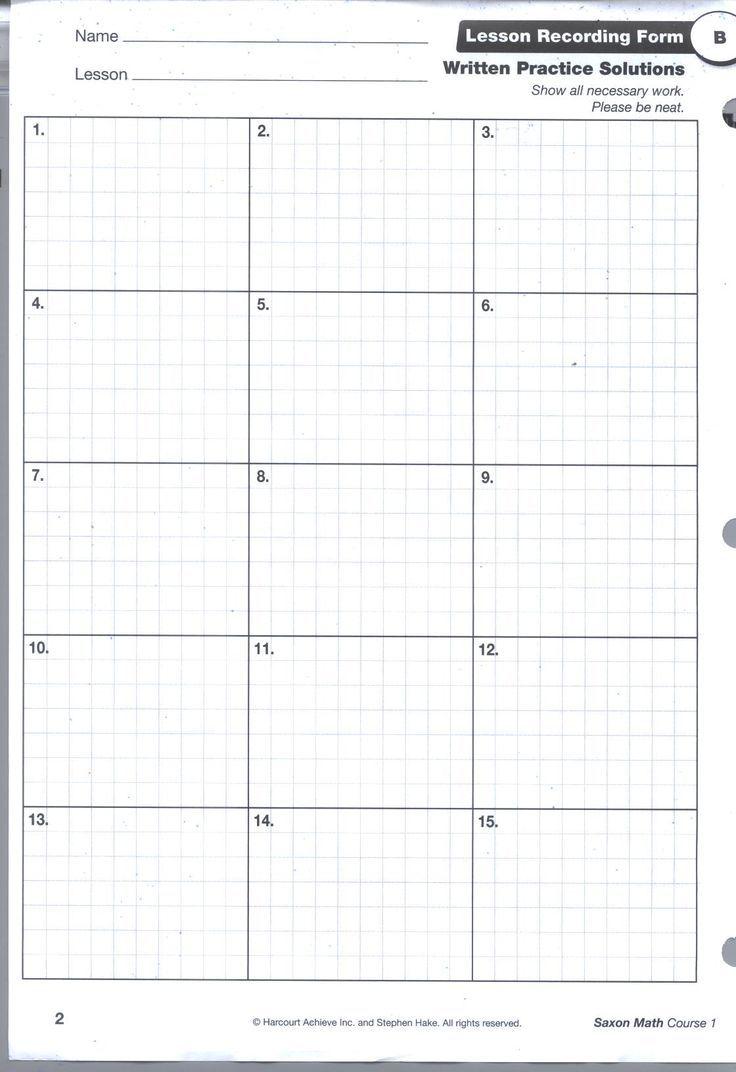 Saxon+Math+Homework+Sheets