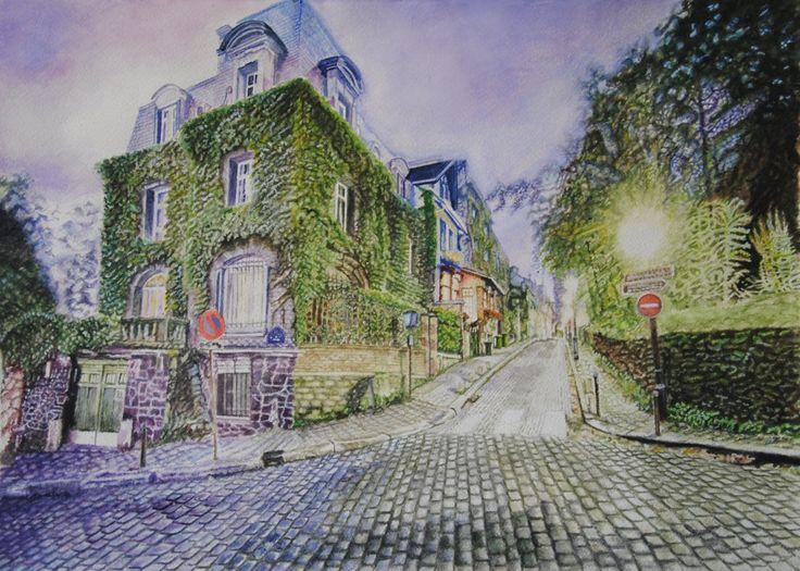 Luminescence, Aquarelle 55 x 38, Fabriano 300 gr, Original price: 1000 Euro, exclusive high end imprint on aquarelle paper - 100 Euro