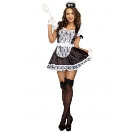 Women's Maid For You Adult Costume #halloween #maid #adult #costume #frenchmaid #sexy #rebelcircus