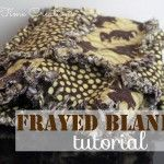Frayed Flannel Baby Blanket {Tutorial} - Nap-time Creations