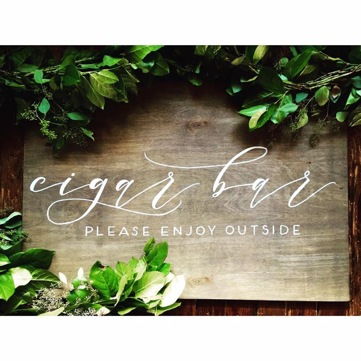 Kate Turner Studio | Atlanta Based Calligrapher + Fine Artist  | Summerour Studio Cigar Bar Sign