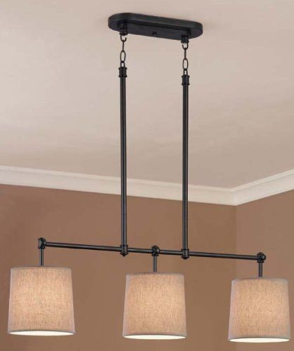 Chambers Island Light/Chandelier Bronze Finish