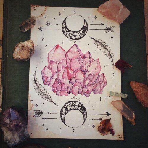 * watercolor crystals