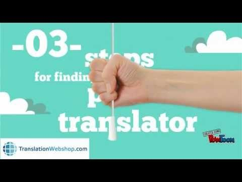 Find a professional translator in 3 easy steps at TranslationWebshop