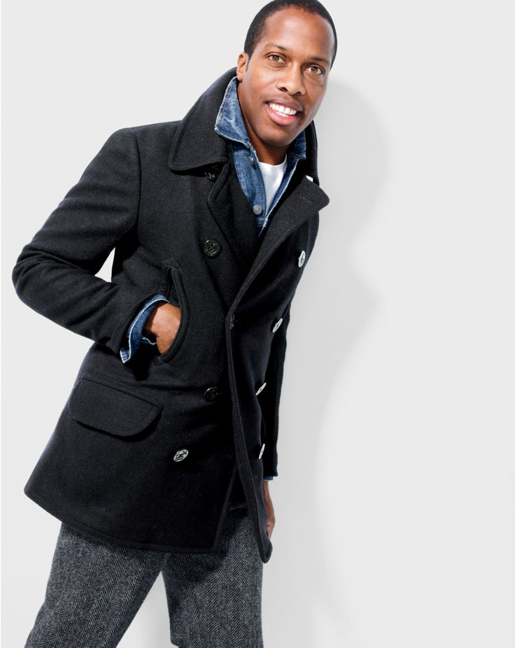 Every man looks good in a peacoat.