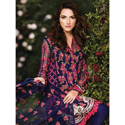 Buy NVD ENTERPRICE Blue Faux Georgette Semi Stitched Suit by NVD ENTERPRICE, on Paytm, Price: Rs.1399?utm_medium=pintrest