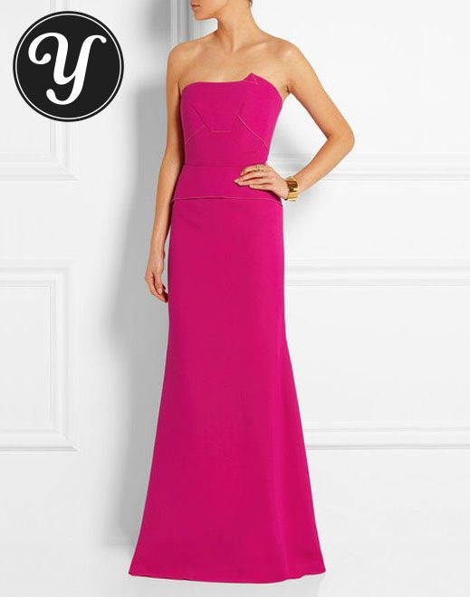 Roland Mouret Calcott wool - crepe gown To see more gowns visit: http://yurn.it/profile/yurnit1/board/emmy-inspired-gowns/?t=149160