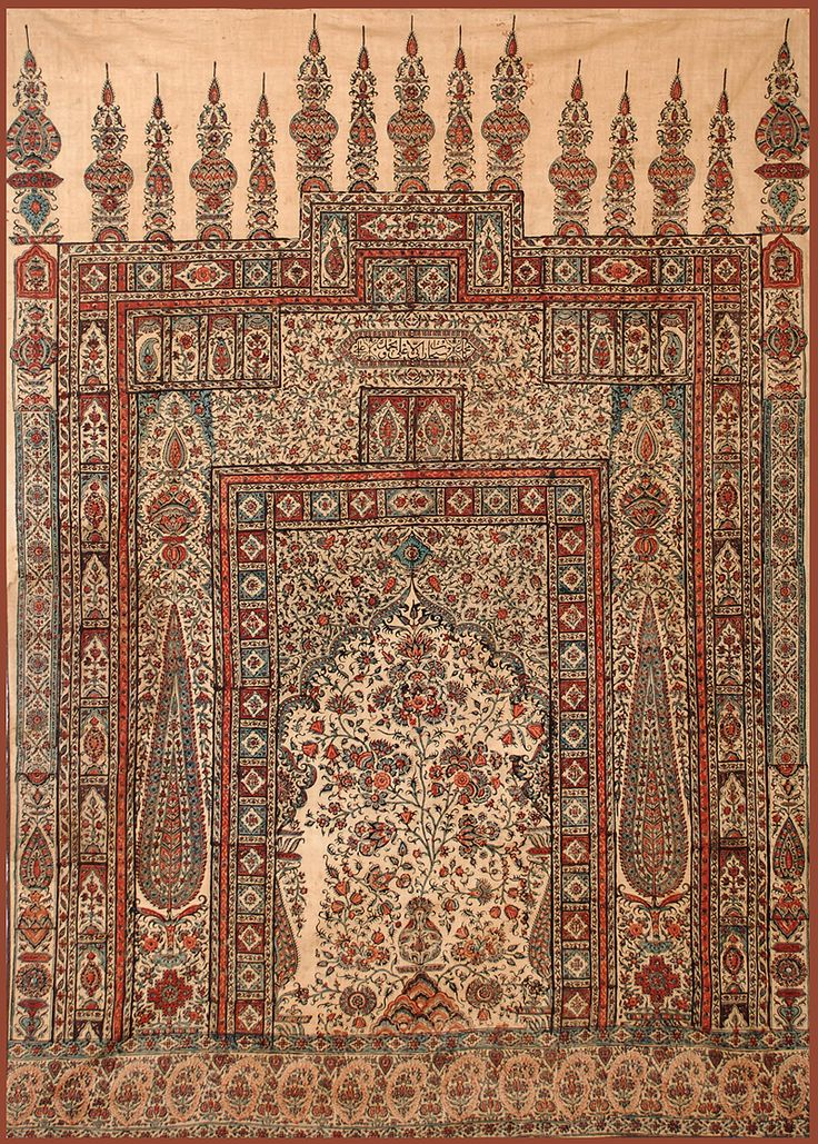 Antique Persian Textile Isfahan Summer Prayer Rug