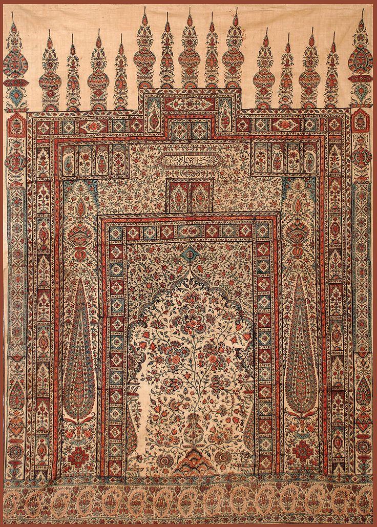 Antique Persian Textile Isfahan Summer Prayer Rug