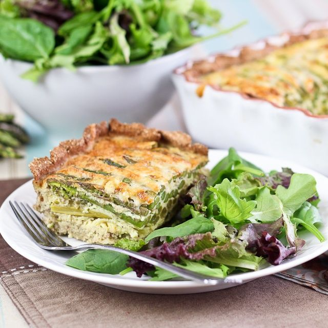 GF Asparagus and Cheese Quiche - Crust In, Grains Out!