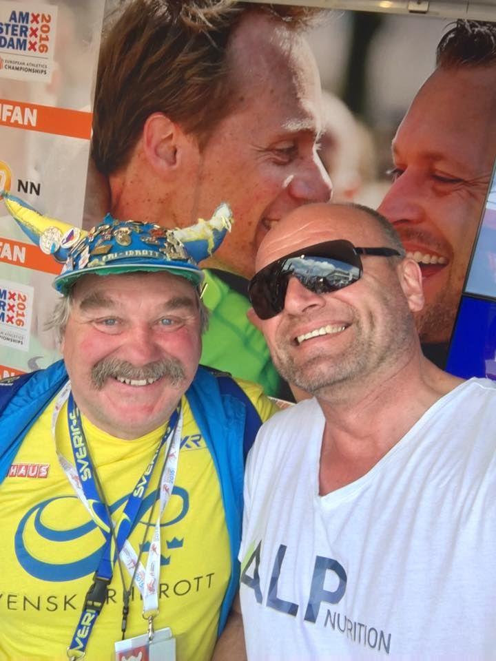 Swedish-German Fan friendship — – hier: Amsterdam 2016 - European Athletics Championships.