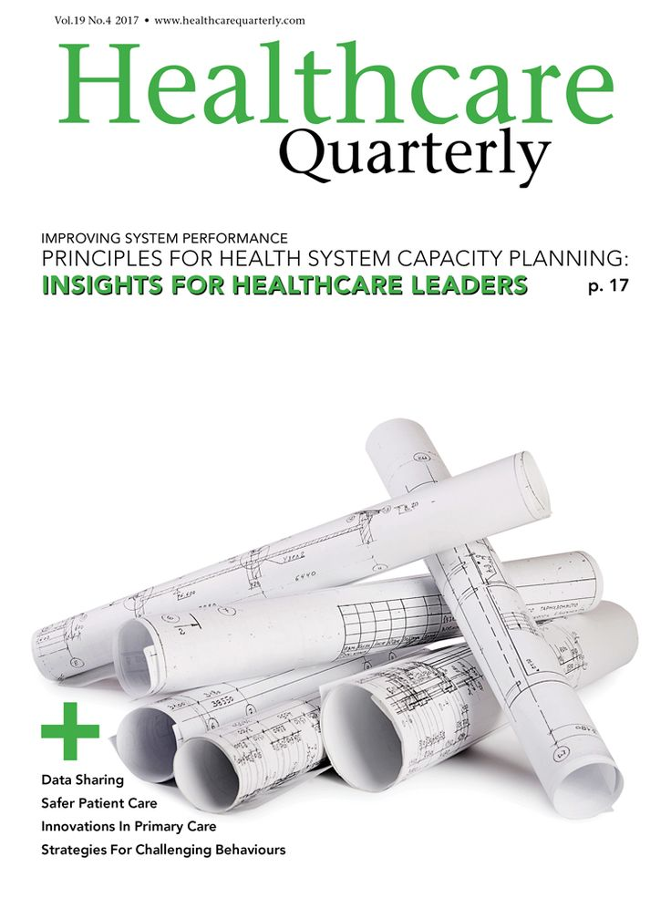 Healthcare Quarterly Vol. 19 No. 4, 2017 :: Longwoods.com