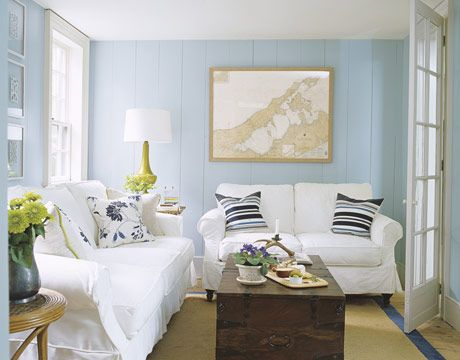 Designer Ruthie Sommers, Wall is iceberg by Benjamin Moore #blue