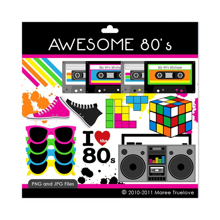 Awesome 80's Clipart