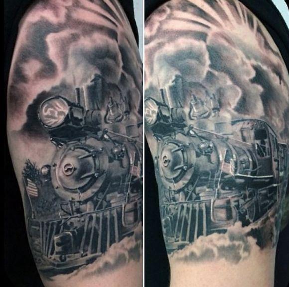 23 Best Train Tattoos Images On Pinterest Train Tattoo