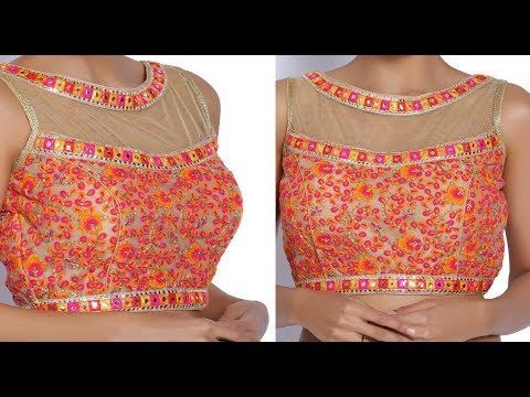 How to make Boat Neck Blouse with Princess Cut (DIY) - YouTube