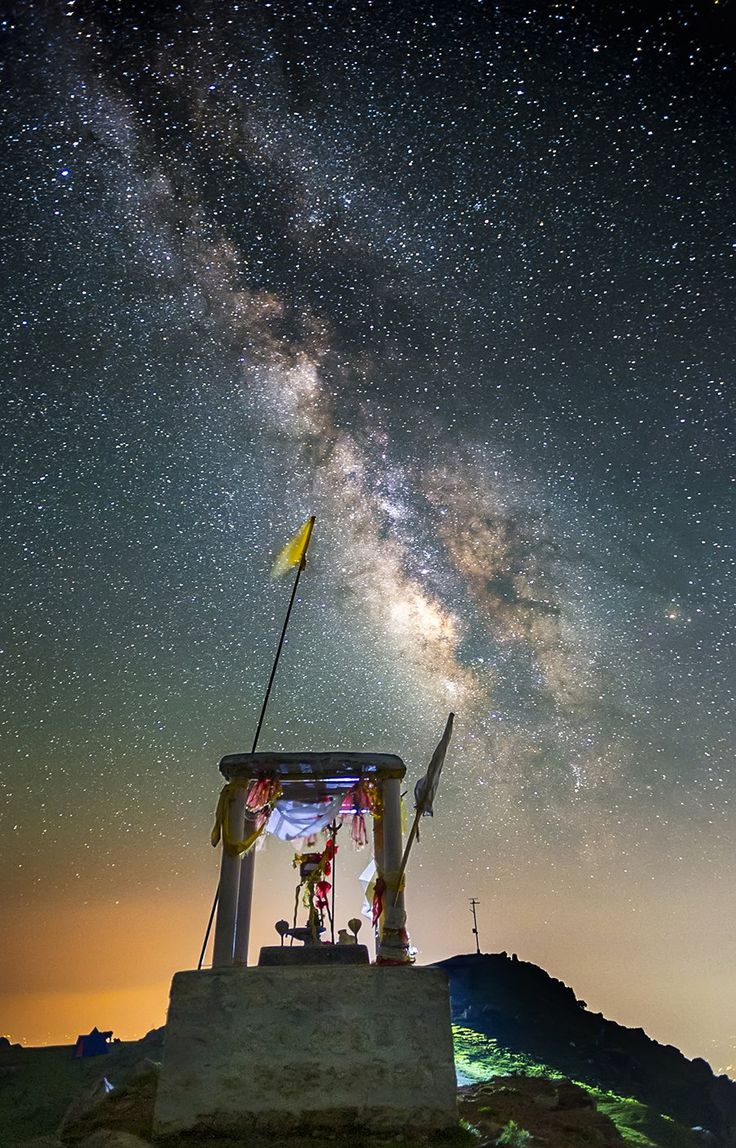 Milky Temple... - Milky Way Over Temple on Triund Hills Mcleod Ganj Dharamsala Himachal Pradesh India  Nikon D4s