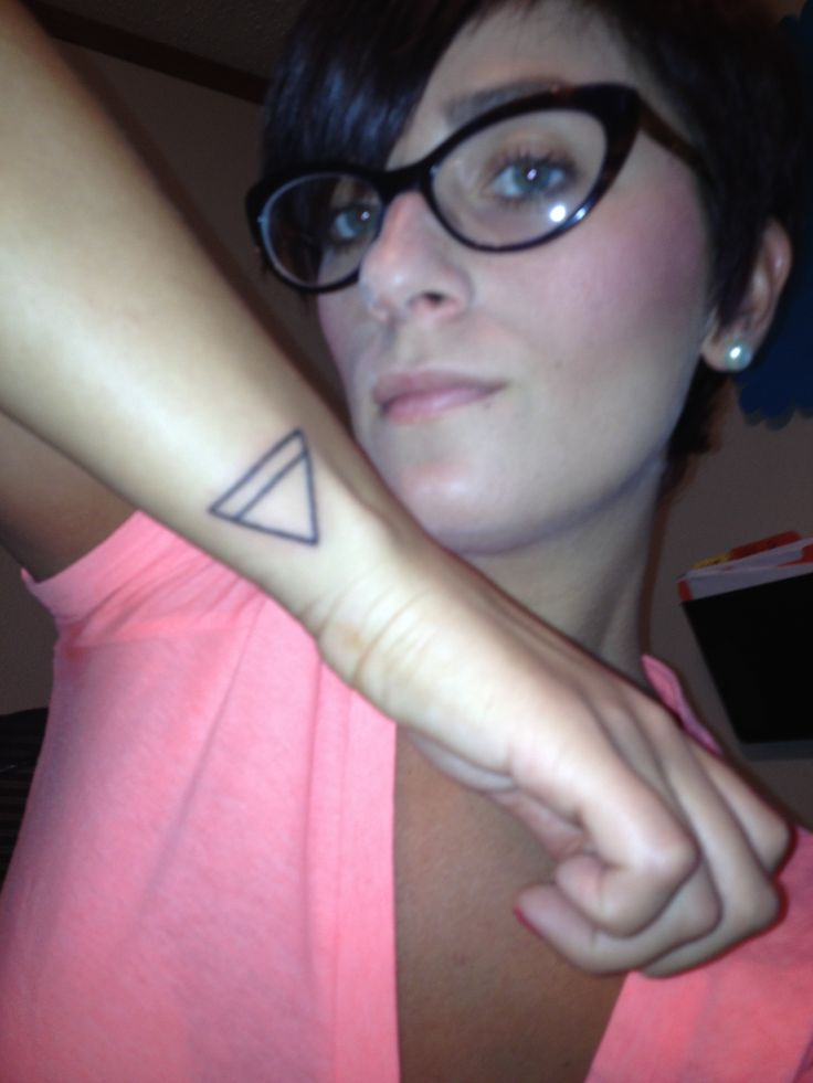 My newest tattoo upside down triangle so many meanings however I got it to show femininity and earth