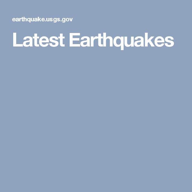 Latest Earthquakes