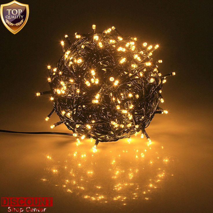 Outdoor Led Christmas Lights 300 Warm White Battery Fairy String Tree Waterproof #PGT #ChristmasHalloweenMultipurposePartyWedding