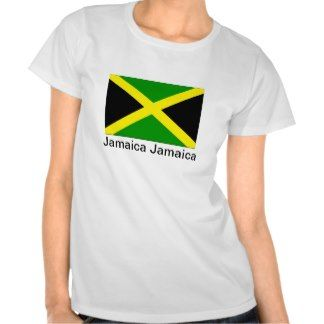 Show your love for the beautiful island of Jamaica. $22.95 #fashion #apparel #clothes #Jamaica #Jamaican #tshirt #shirts #shirt #ladies #female #reggae #BobMarley #zazzle #model