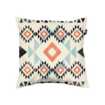 cojín estampado navajo tribal print pattern cushion diseño design decoración decoration miraquechulo