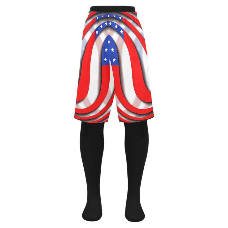 Flag of United States of America Men's Swim Trunk