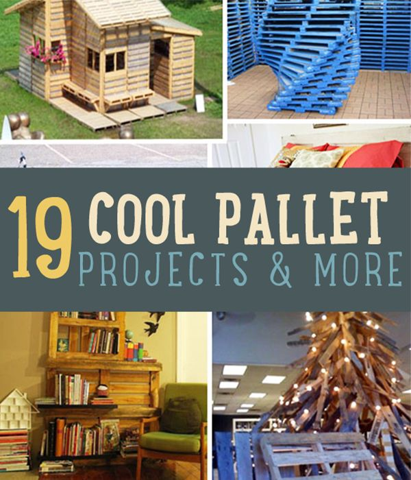 19 Cool Pallet Projects   Our favorite wood pallet furniture and craft project made with pallets   diyready.com #DIYready