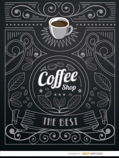Vintag rótulo café Vetor grátis