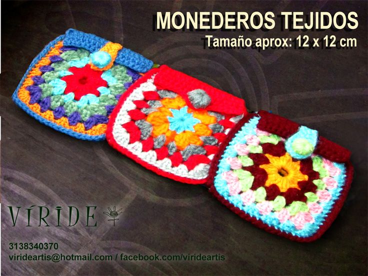 7 best Monederos Granny Square images on Pinterest Coin purses