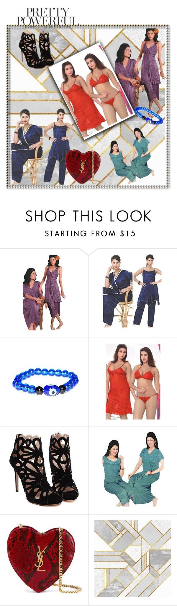 """""""LINGERIE SET FOR WOMEN HONEYMOON NIGHT"""" by lavanyas-trendzs ❤ liked on Polyvore featuring Yves Saint Laurent"""