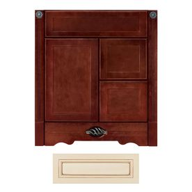 Architectural Bath Remington Vanilla/Chocolate Transitional Bathroom Vanity  (Common: 30 In X