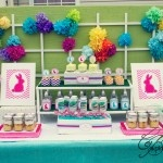Easter Party Chevron Party IDeas: Chevron Parties, Easter Chevron, Easter Bunnies, Holidays Ideas, Parties Ideas, Bunnies Chevron, Sweet Table, Easter Ideas, Crafty Ideas
