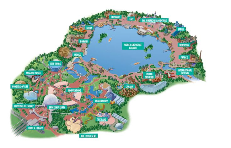 epcot center   epcot-center-map