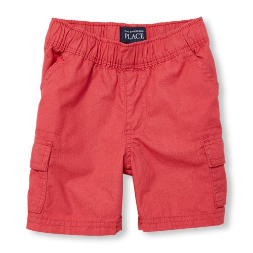 s Toddler Boys Pull-On Woven Cargo Shorts - Red - The Children's Place
