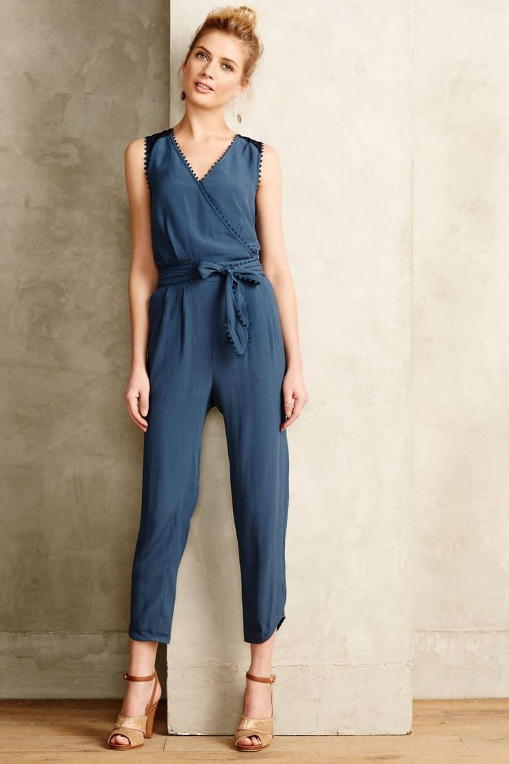 at anthropologie Sani Lace Jumpsuit in slate
