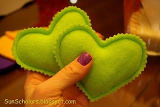 heart felt pocket warmers!